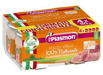 PLASMON OMOGENEIZZATO POLLO VITELLO 4 PEZZI 80 G