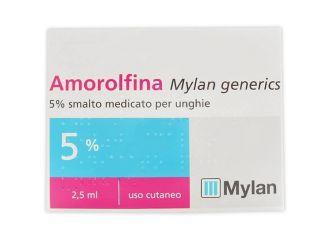 AMOROLFINA MYLAN GENERICS 5% SMALTO MEDICATO PER UNGHIE